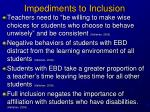 impediments to inclusion1
