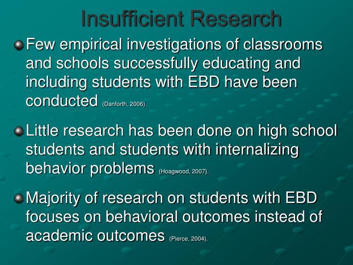 Insufficient Research