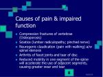 causes of pain impaired function