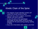 kinetic chain of the spine
