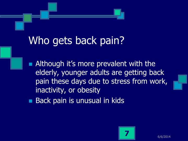 Who gets back pain?