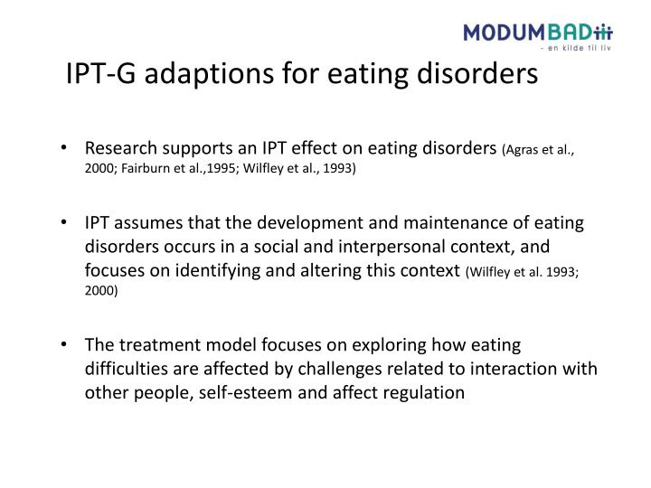 IPT-G adaptions for eating disorders