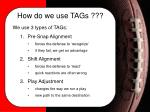 how do we use tags3