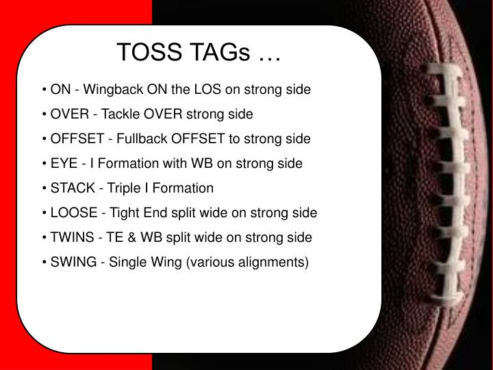 TOSS TAGs …