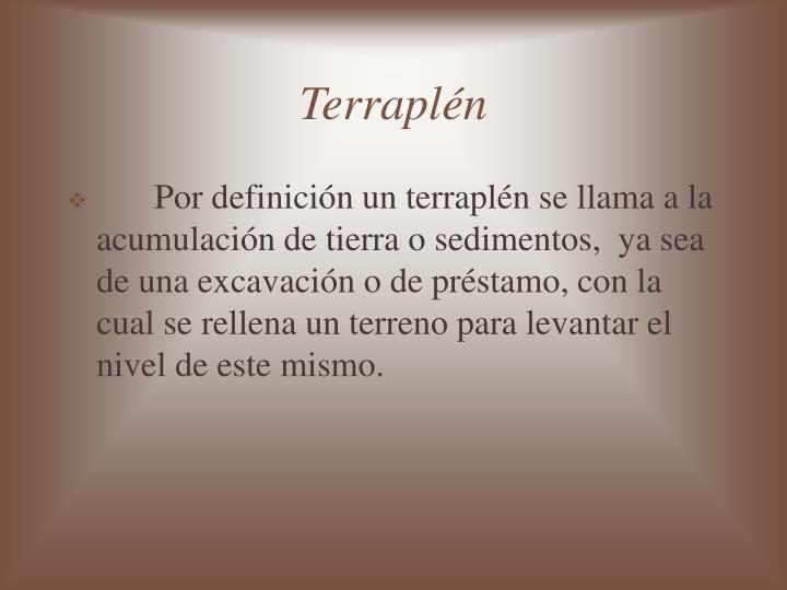 Terraplén