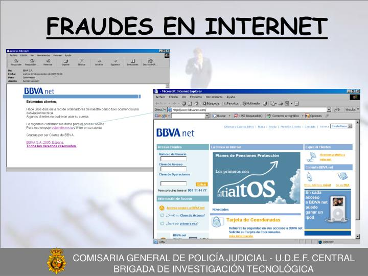 FRAUDES EN INTERNET