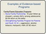 examples of evidence based programs
