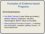 examples of evidence based programs1
