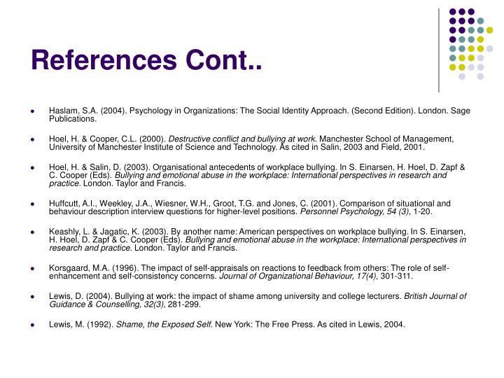 References Cont..