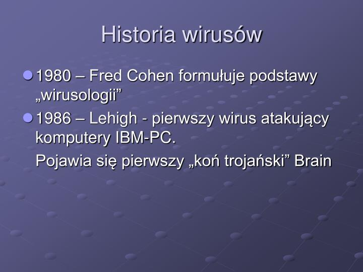 Historia wirusów