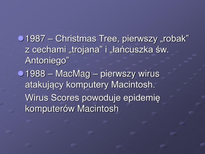 """1987 – Christmas Tree, pierwszy """"robak"""" z cechami """"trojana"""" i """"łańcuszka św. Antoniego"""""""