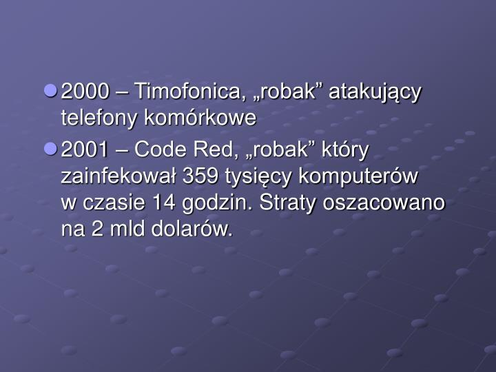 """2000 – Timofonica, """"robak"""" atakujący telefony komórkowe"""