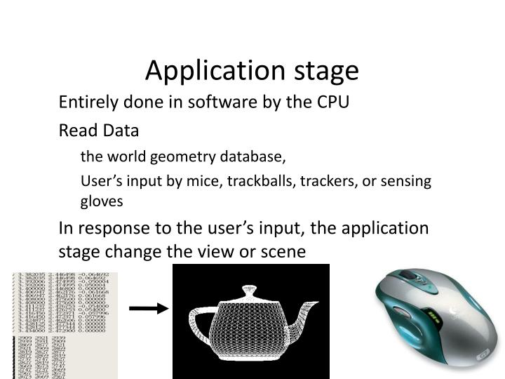 Application stage