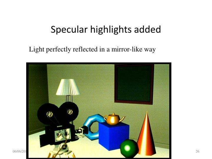 Specular highlights added