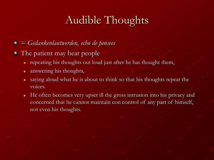 Audible Thoughts