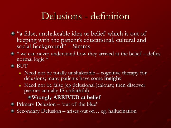 Delusions - definition