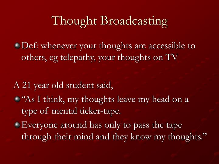 Thought Broadcasting