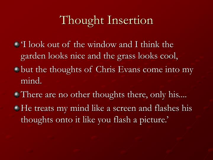 Thought Insertion