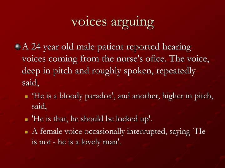 voices arguing