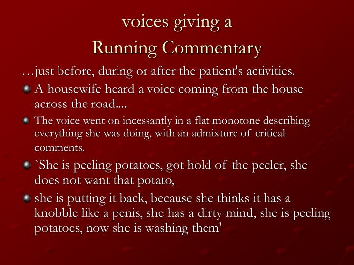 voices giving a
