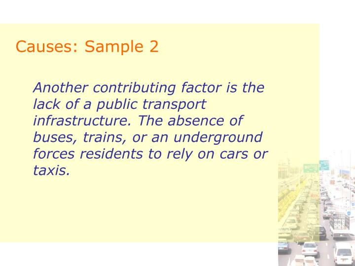 Causes: Sample 2