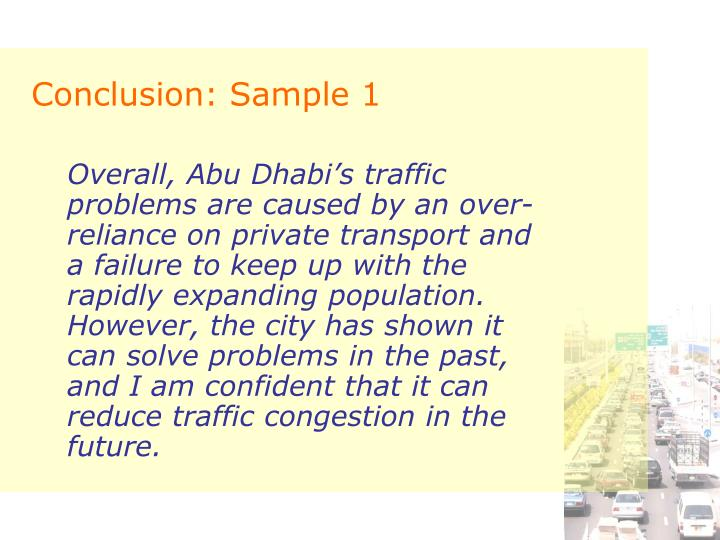 Conclusion: Sample 1