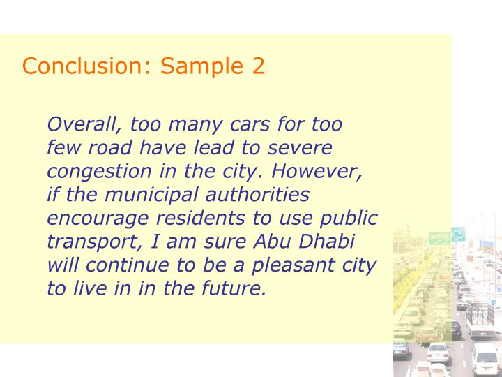 Conclusion: Sample 2
