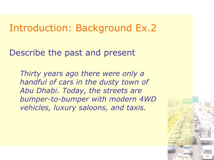 Introduction: Background Ex.2