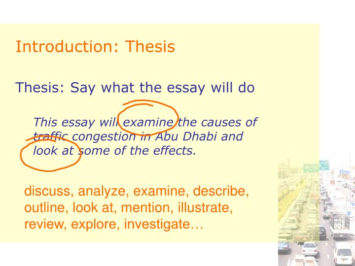 Introduction: Thesis
