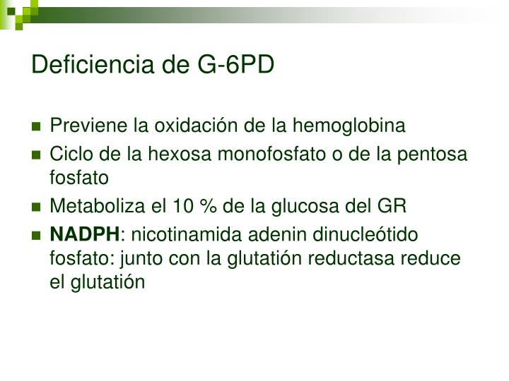 Deficiencia de G-6PD