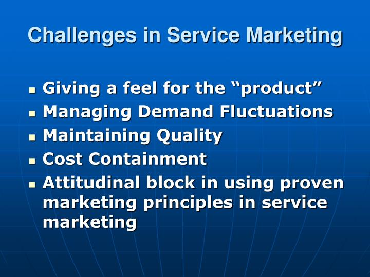 Challenges in Service Marketing