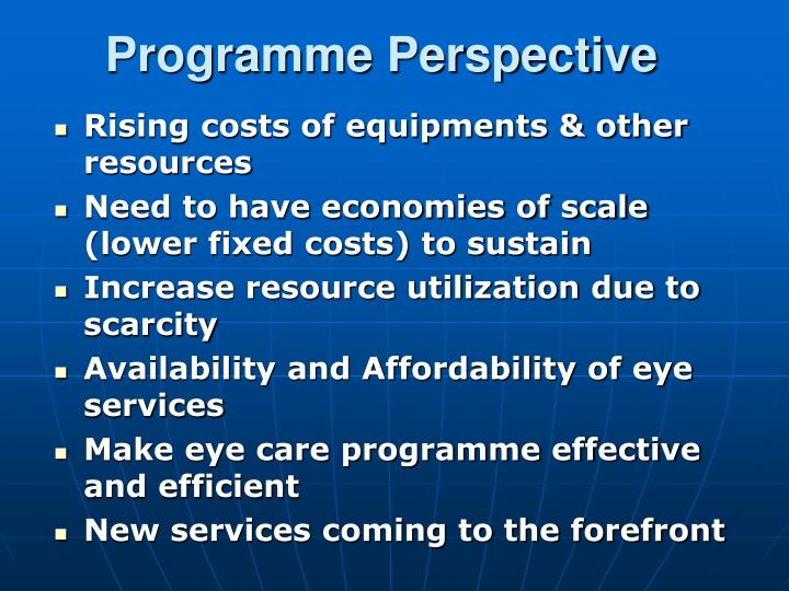 Programme Perspective