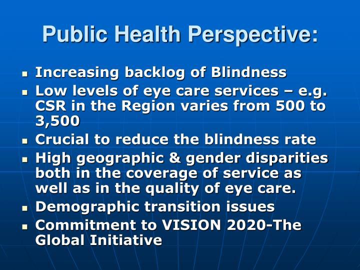 Public Health Perspective: