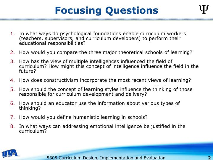 Focusing questions