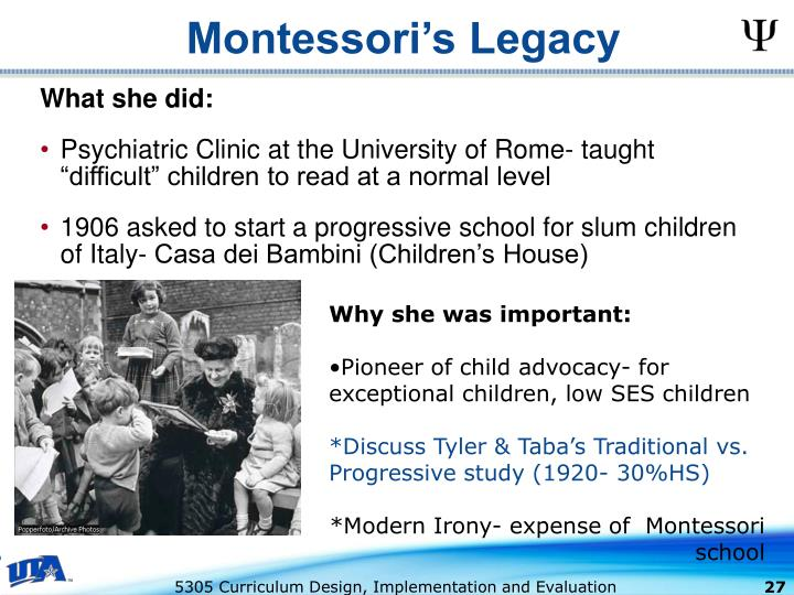 Montessori's Legacy