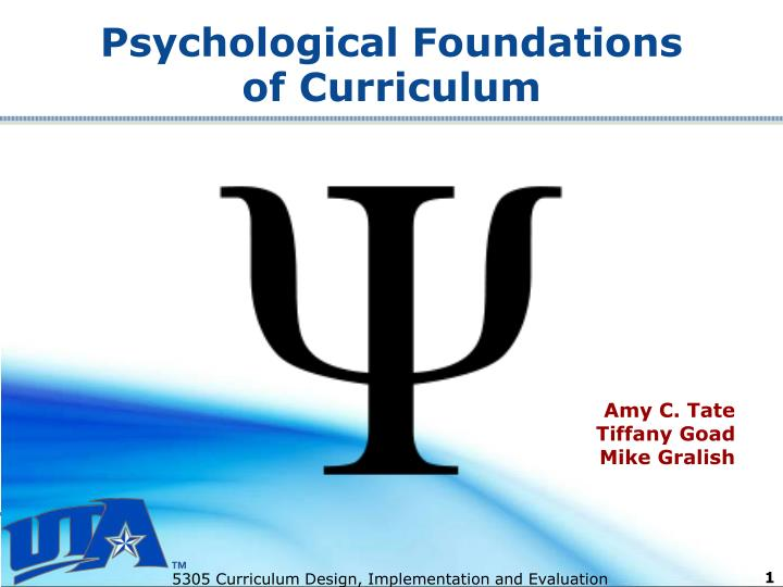Psychological foundations of curriculum