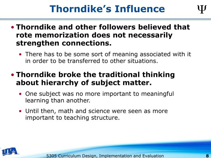 Thorndike's Influence