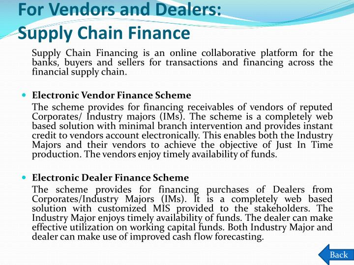 For Vendors and Dealers: