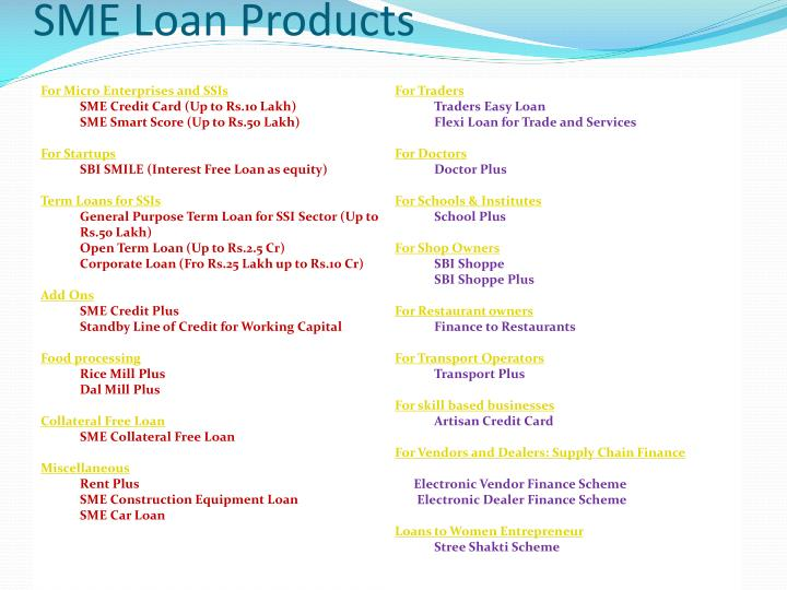 SME Loan Products