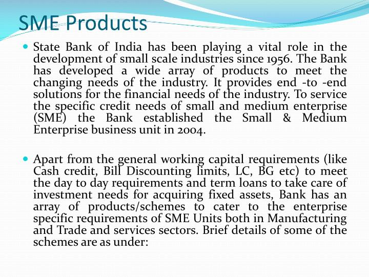 SME Products