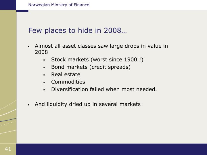 Few places to hide in 2008…