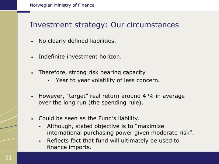 Investment strategy: Our circumstances
