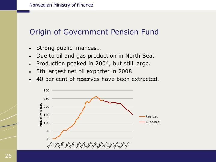 Origin of Government Pension Fund