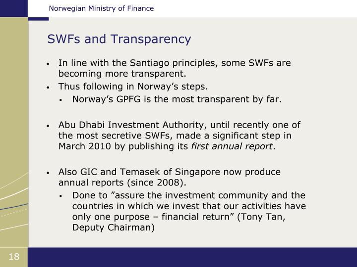 SWFs and Transparency