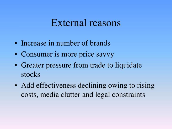 External reasons