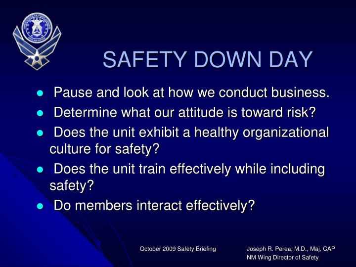 SAFETY DOWN DAY