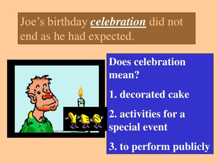 Joe's birthday
