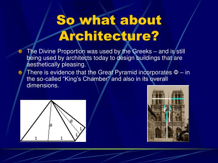 So what about Architecture?