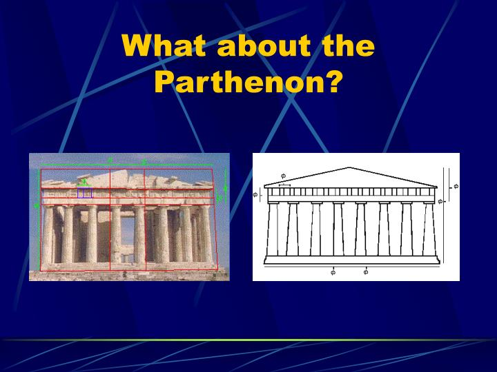 What about the Parthenon?