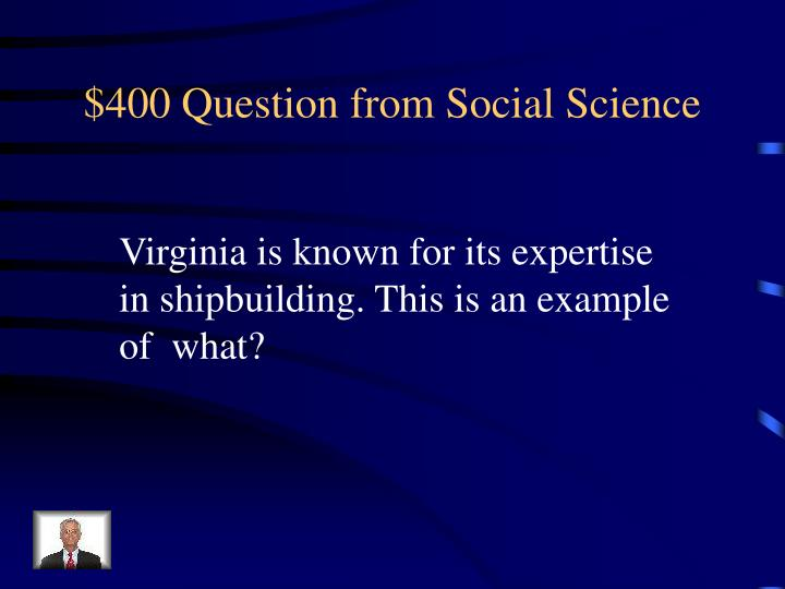 $400 Question from Social Science